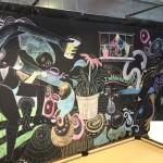 BOOKER T. WASHINGTON STUDENTS CREATE ARTWORK FOR THE CHALKBOARD WALLS OF CHARLIEUNIFORMTANGO
